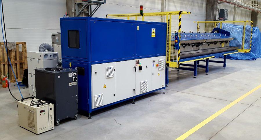 laserová stanice, čistící automatická stanice s podavačem