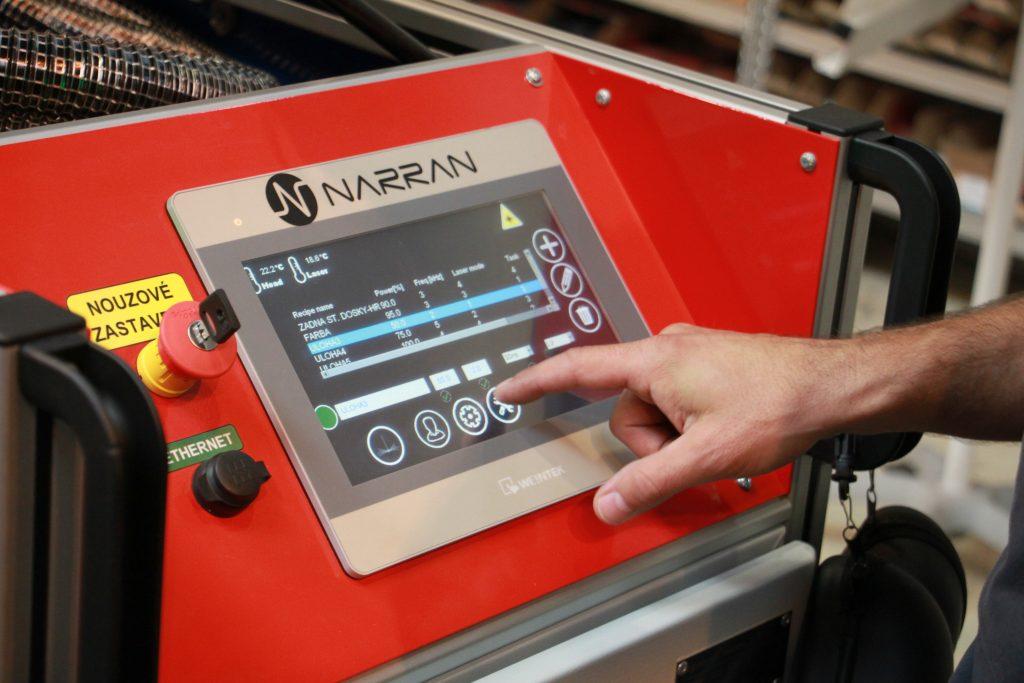 ovládací panel čistící laseru ROD 500