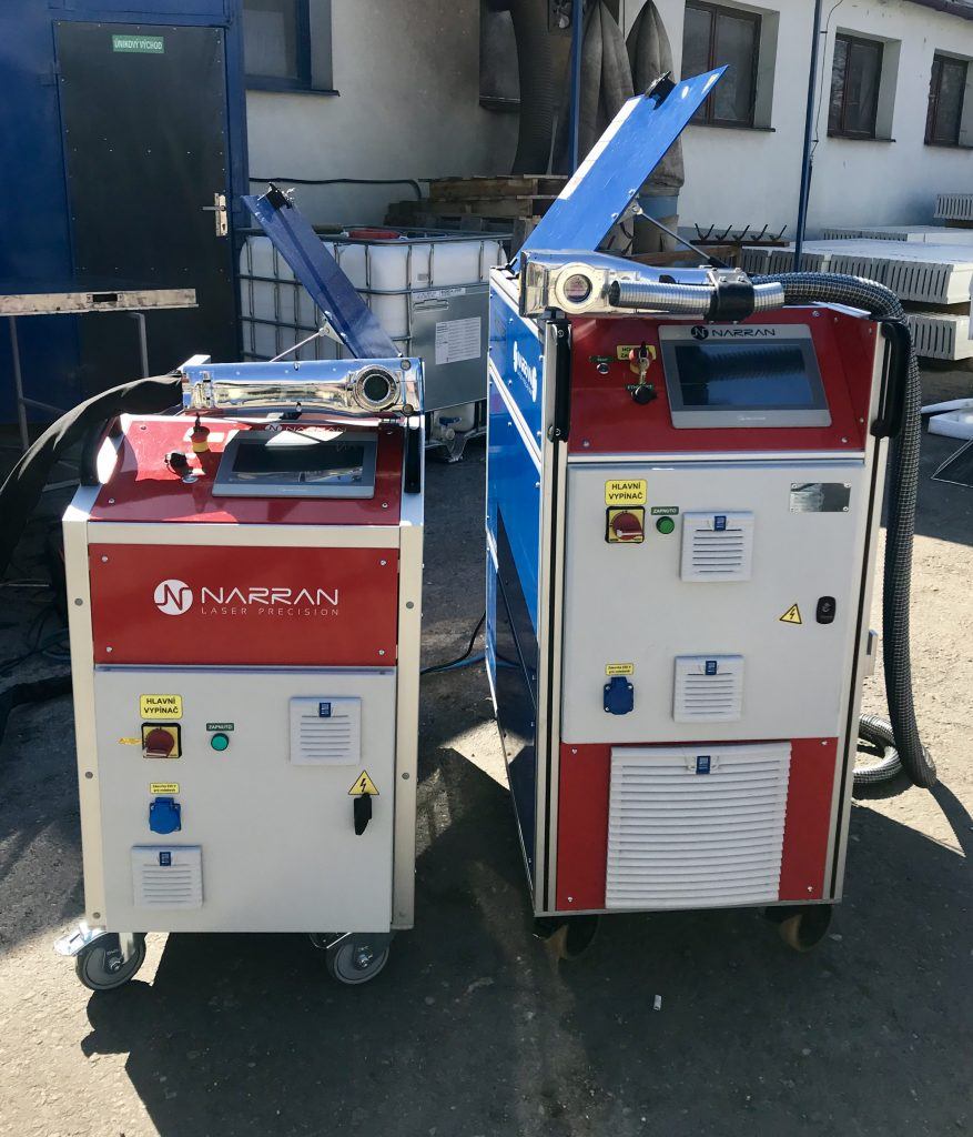 čistící laser ROD 200 a ROD 500