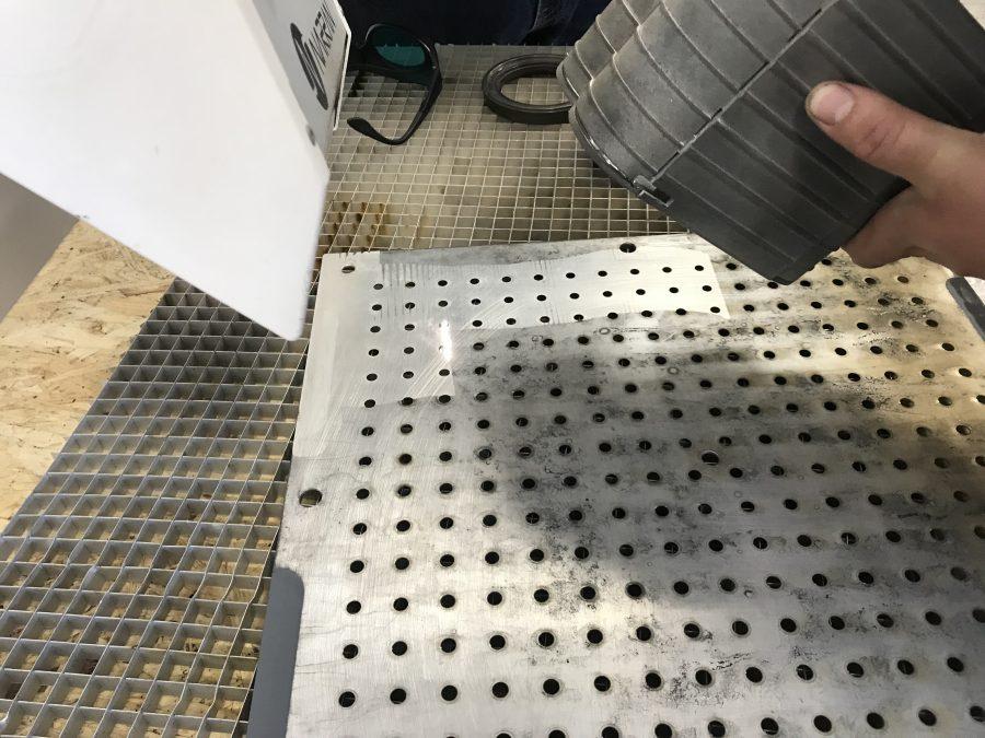 čištění laserových forem