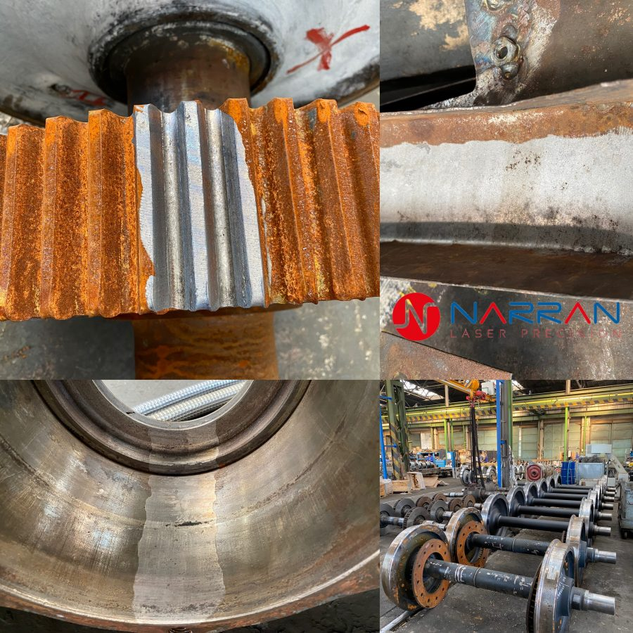 laser cleaning, rust removal, rust cleaning, laser removing, train, wheels, rod 500, laser de rusting, rust stripping